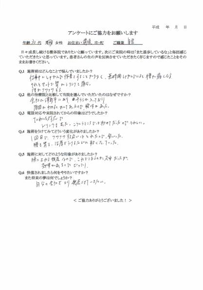 清須町 Fさんアンケート