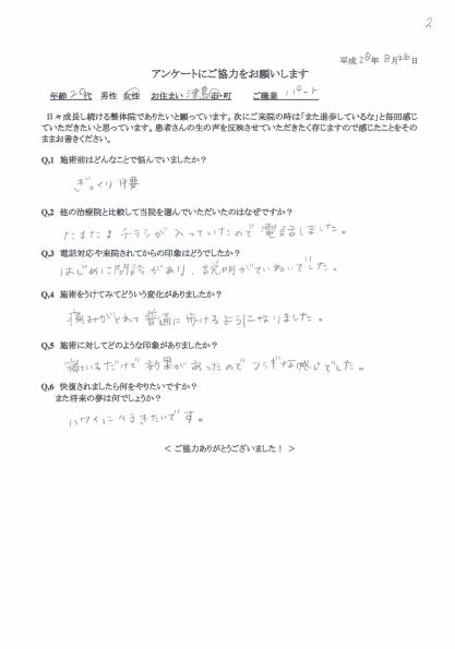 津島市 Tさんアンケート