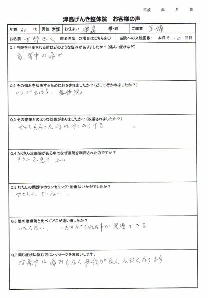 津島市 吉村さんアンケート